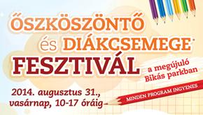Őszköszöntő és Diákcsemege Tanévnyitó fesztivál a megújuló Bikás parkban