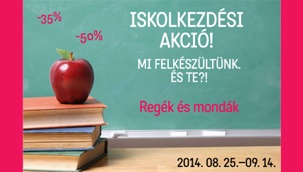 Iskolakezdési akció!